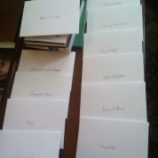 Stacks of addressed inner envelopes