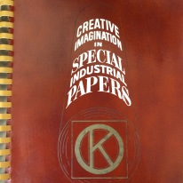 Cover of a mid-century sample book from Knowlton Technologies