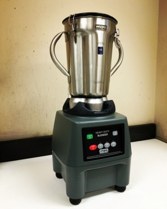 A blender for pulping - brand new that day.