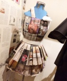 Was surprised by this newspaper dress tucked away behind a sales rack in an Adelaide Red Cross thrift store.